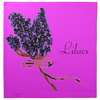 Lilac Flower Design in Summer Flowers Napkin