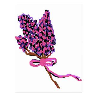 Lilac Flower Design in Summer Flowers Postcard