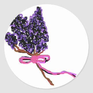 Lilac Flower Design in Summer Flowers Stickers