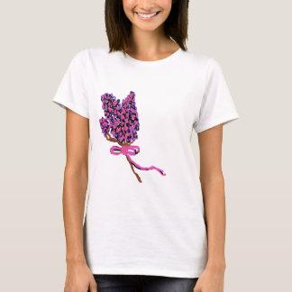 Lilac Flower Design in Summer Flowers T-Shirt