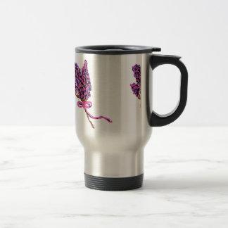Lilac Flower Design in Summer Flowers Travel Mug