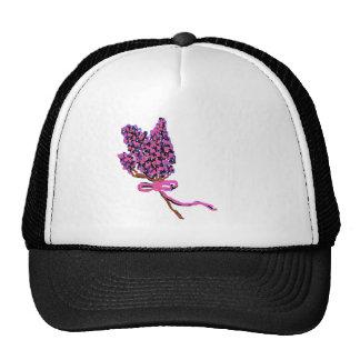 Lilac Flower Design in Summer Flowers Trucker Hat
