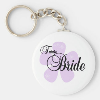 Lilac Flower Future Bride Keychain