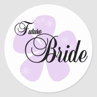 Lilac Flower Future Bride Stickers