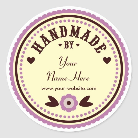 Lilac Flower Handmade By Personalised Stickers