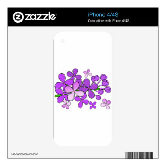 lilac flower iPhone 4 skin