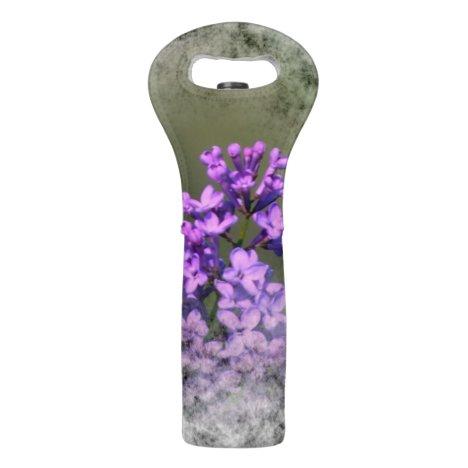 Lilac Flower Lovely Wine Bag