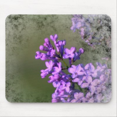 Lilac Flower Mouse Pads