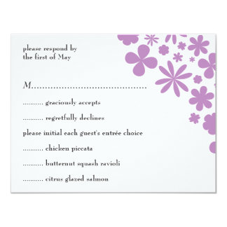 Lilac Flower Power Response/Menu Card