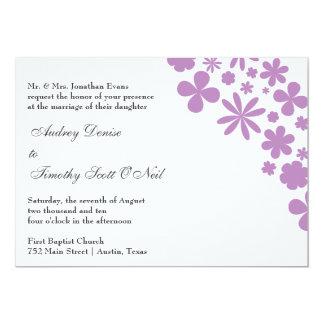 Lilac Flower Power Wedding Invitation