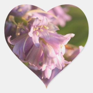 lilac flower heart sticker