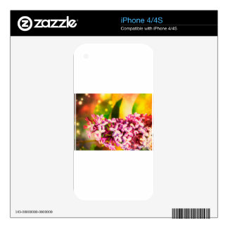 Lilac Flower with Bokeh 3 Decal For The iPhone 4S