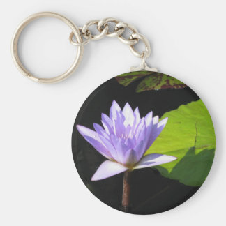 Lilac Flower with Lili Pads at Longwood Gardens Keychain
