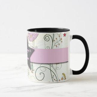 Lilac Flowers and Star Mug