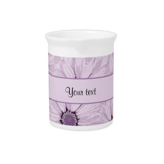 Lilac Flowers Beverage Pitcher