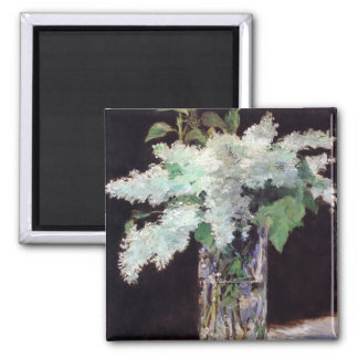 Lilac Flowers Bouquet by Manet Magnet