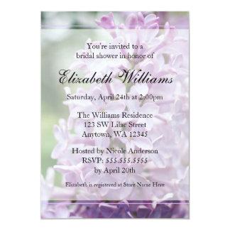 Lilac Flowers Bridal Shower Card