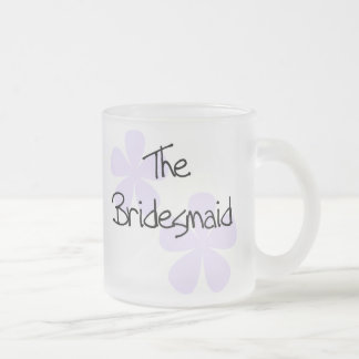 Lilac Flowers Bridesmaid Frosted Glass Coffee Mug