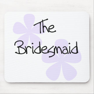 Lilac Flowers Bridesmaid Mouse Pad
