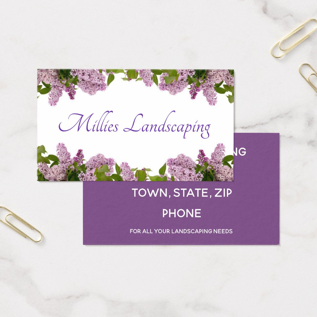 Lilac Flowers Business Card