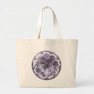 Lilac Flowers Canvas Bag