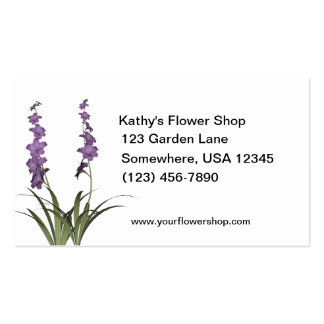 Lilac Flowers Florist Shop Double-Sided Standard Business Cards (Pack Of 100)
