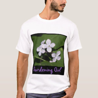Lilac Flowers Gardening Girl T-Shirt