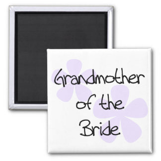 Lilac Flowers Grandmother of Bride 2 Inch Square Magnet