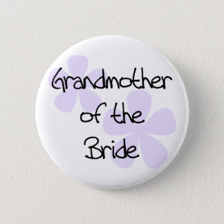 Lilac Flowers Grandmother of Bride Button