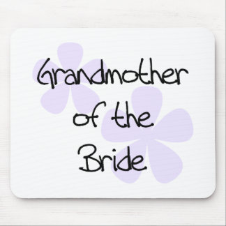 Lilac Flowers Grandmother of Bride Mouse Pads