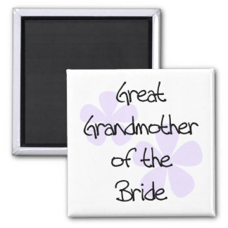 Lilac Flowers Great Grandmother of Bride 2 Inch Square Magnet