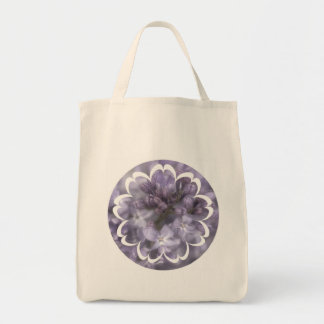 Lilac Flowers Grocery Tote Bag