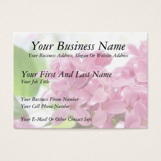 Lilac Flowers In The Morning Sunlight Business Card