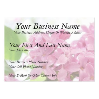 Lilac Flowers In The Morning Sunlight Large Business Cards (Pack Of 100)