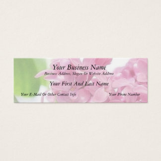 Lilac Flowers In The Morning Sunlight Mini Business Card
