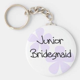 Lilac Flowers Jr. Bridesmaid Key Chain