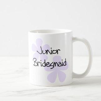 Lilac Flowers Jr. Bridesmaid Classic White Coffee Mug