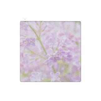 Lilac Flowers Mist Stone Magnet