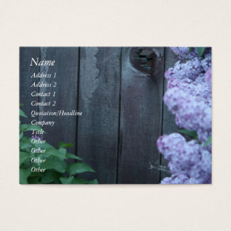 Lilac Flowers & Old Wood Profile Card