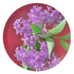 Lilac flowers party plates