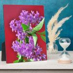 Lilac flowers plaque