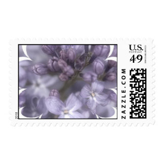 Lilac Flowers Postage Stamp