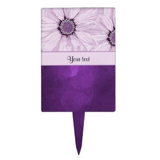 Lilac Flowers & Purple Bokeh Cake Topper