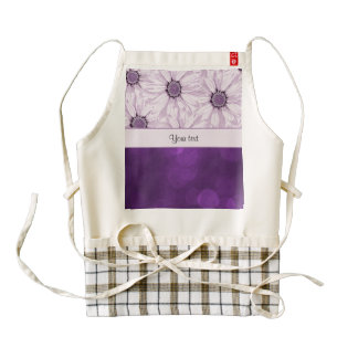 Lilac Flowers & Purple Bokeh Zazzle HEART Apron
