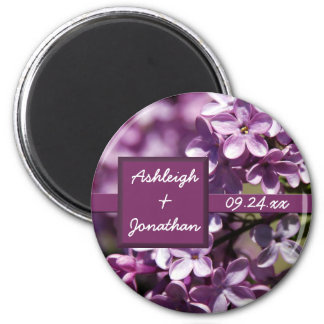 Lilac Flowers Save the Date Magnet