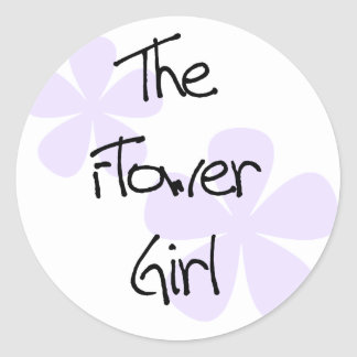 Lilac Flowers The Flower Girl Stickers
