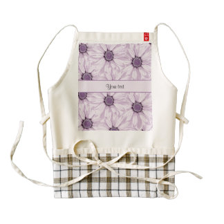 Lilac Flowers Zazzle HEART Apron