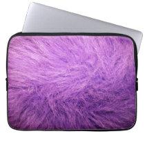 Lilac Fur Computer Sleeve