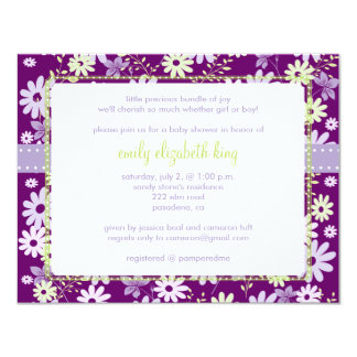 Lilac ~ Garden baby shower Card