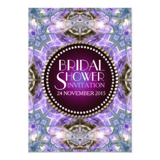 Lilac Geo Dragonfly Magic Bridal Shower Invitation